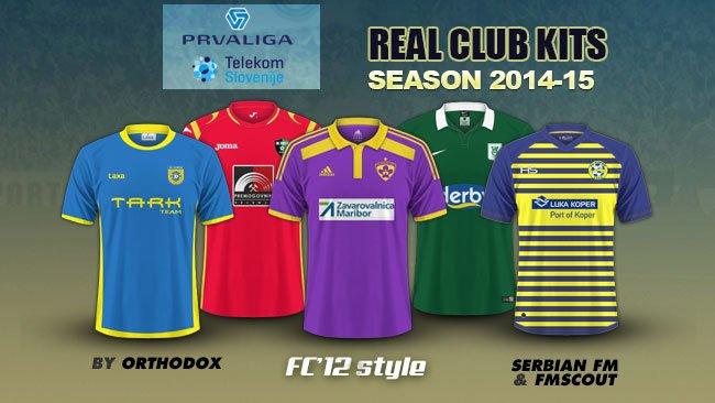 Slovenija Prva Telekom Liga kits 2014/15