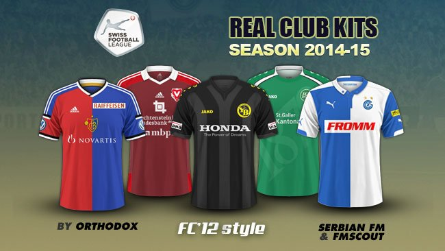 Swiss Super League kits 2014/15
