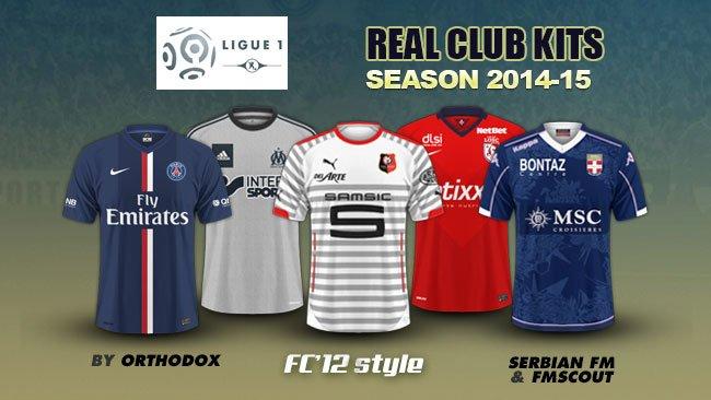 France Ligue 1 kits 2014/15
