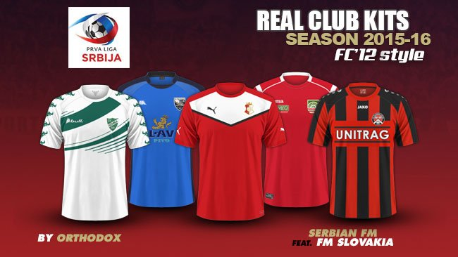 Serbia Prva Liga kits 2015/16