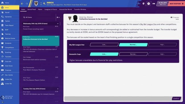 season bonuses staff