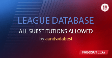 League Database - All Substitutes Are Allowed