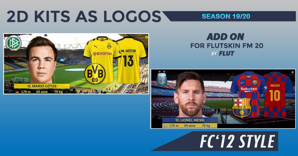 Football Manager 2020 Kits - 2D Kits 19/20 for Flutskin - Titlebar/Player Overview v.2.0