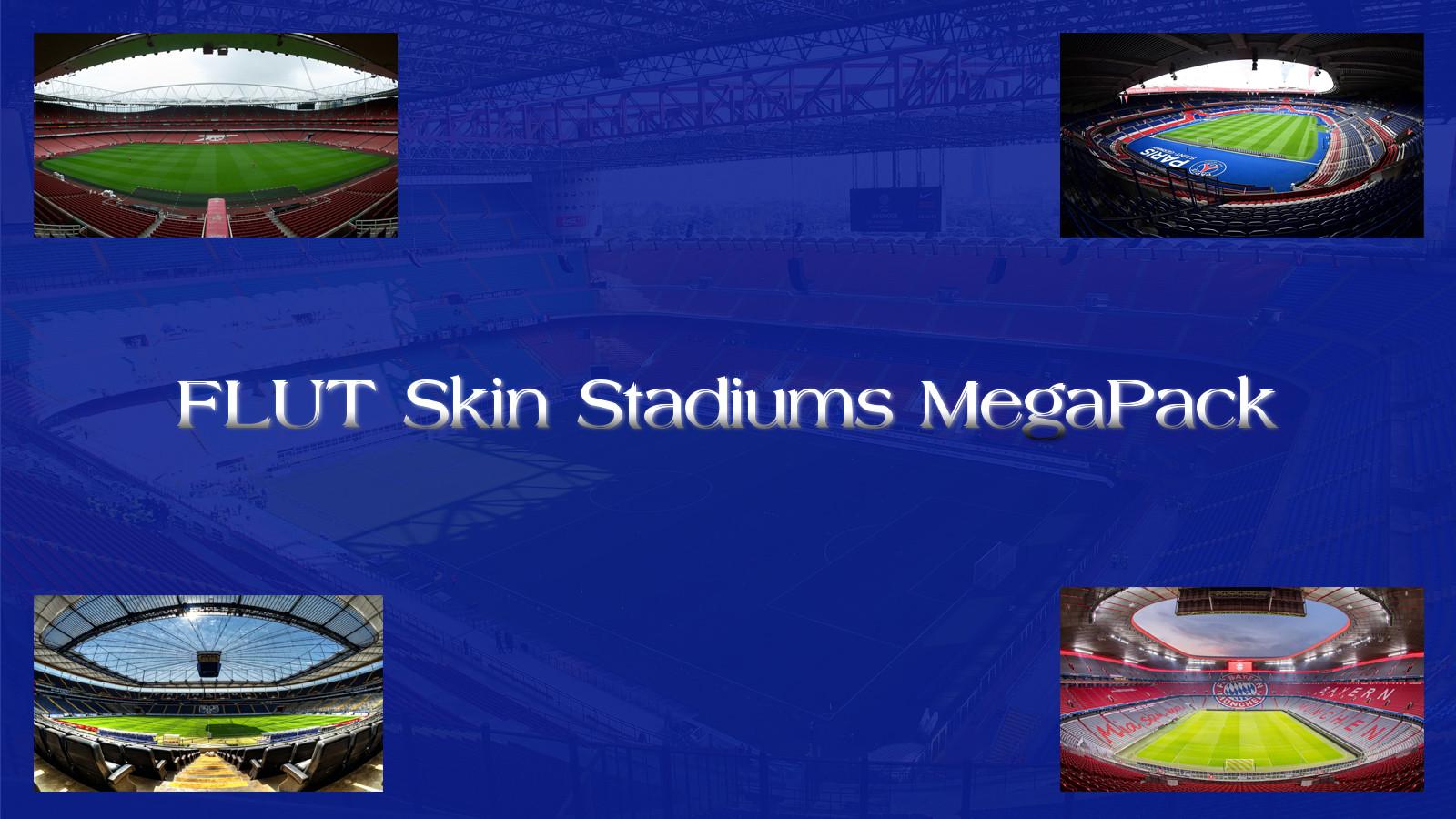 FM 2020 Misc Graphics - FM20 Stadiums Megapack // Backgrounds for Flut Skins