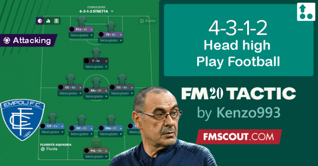 [FM20 TACTIC] 4-3-1-2 the SARRI's WAY