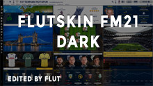 FM 2021 FLUT skin dark - Version 12.0