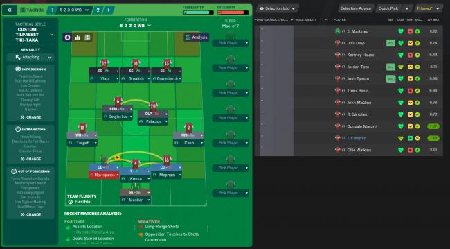 523 strikerless formation