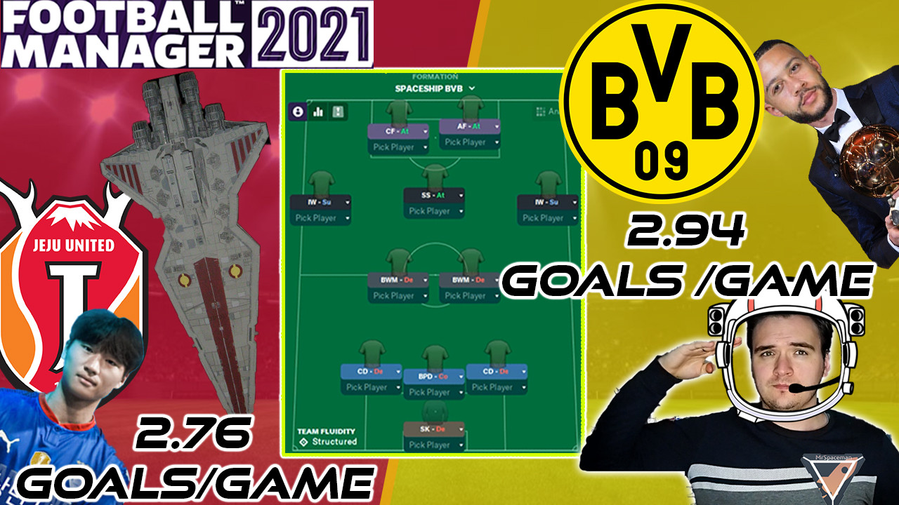 Football Manager 2021 Tactics - MrSpaceman's Spaceship Tactic (3-2-5) - INSANE 2.94 GOALS/GAME!!!