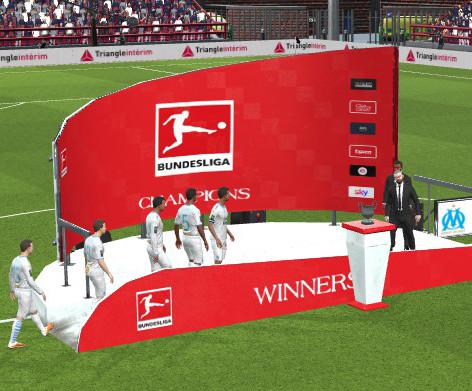 Bundesliga Trophy Podium