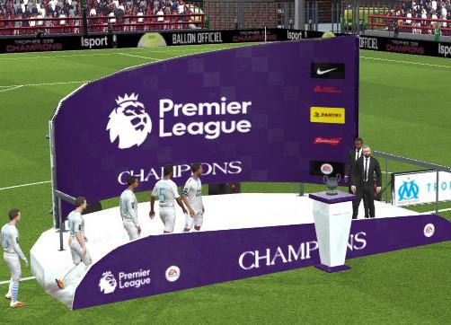 Premier League Trophy Podium