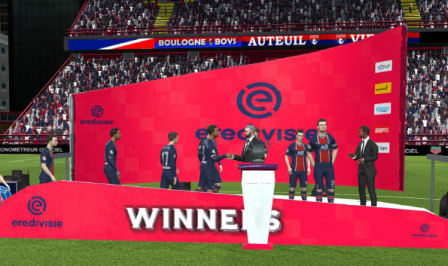 Eredivisie Trophy Podium