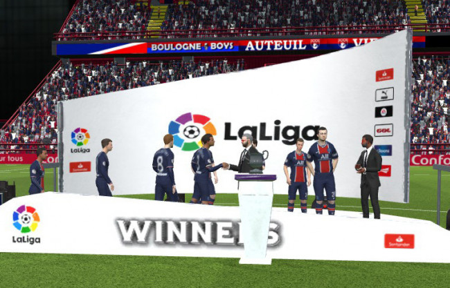 La Liga Trophy Podium