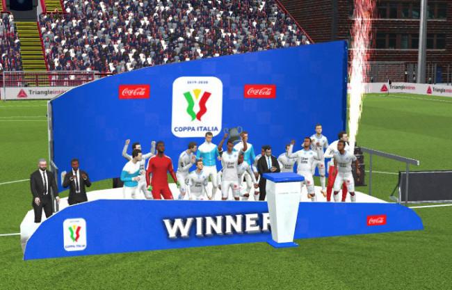 Coppa Italia Trophy Podium