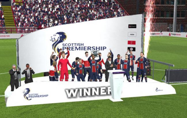 Scottish Premiership Trophy Podium