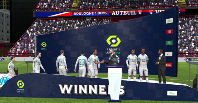 Ligue 1 Trophy Podium