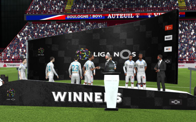Liga NOS Trophy Podium