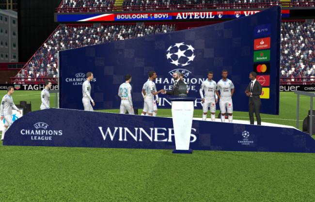 Champions League Trophy Podium