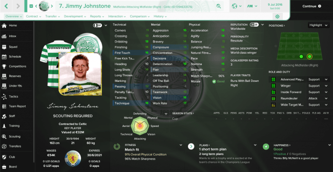 Jimmy Johnstone Overview Profile
