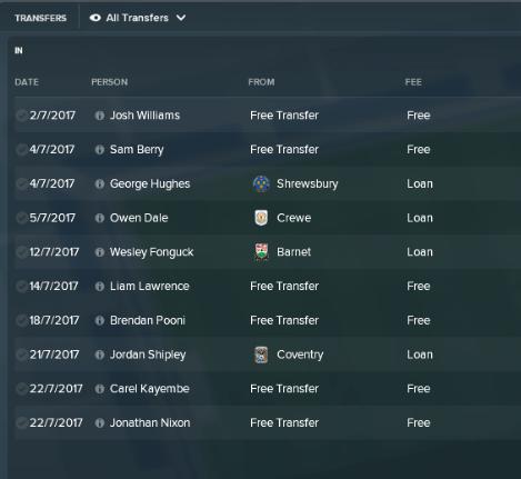 4 Transfers