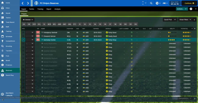 FC Dnipro Reserves Squad Players 2