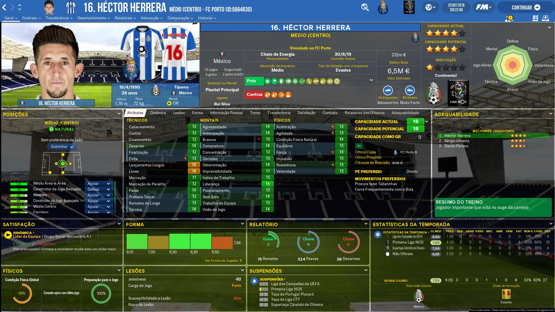 Football Manager 2019 Skins - FM 2019 FLUT skin dark - Version 1.3