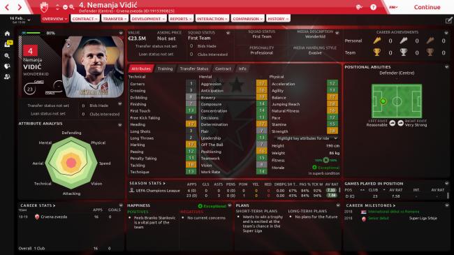 Nemanja Vidić Overview Profile 2