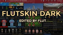 FM 2019 FLUT skin dark - Version 1.9