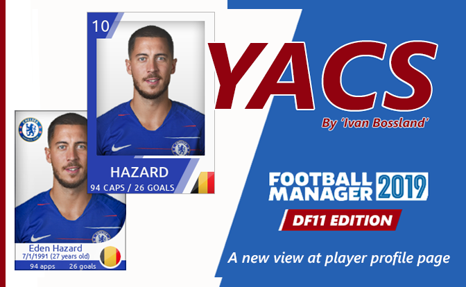 Football Manager 2019 Skins - YACS skin - DF11 Faces edition