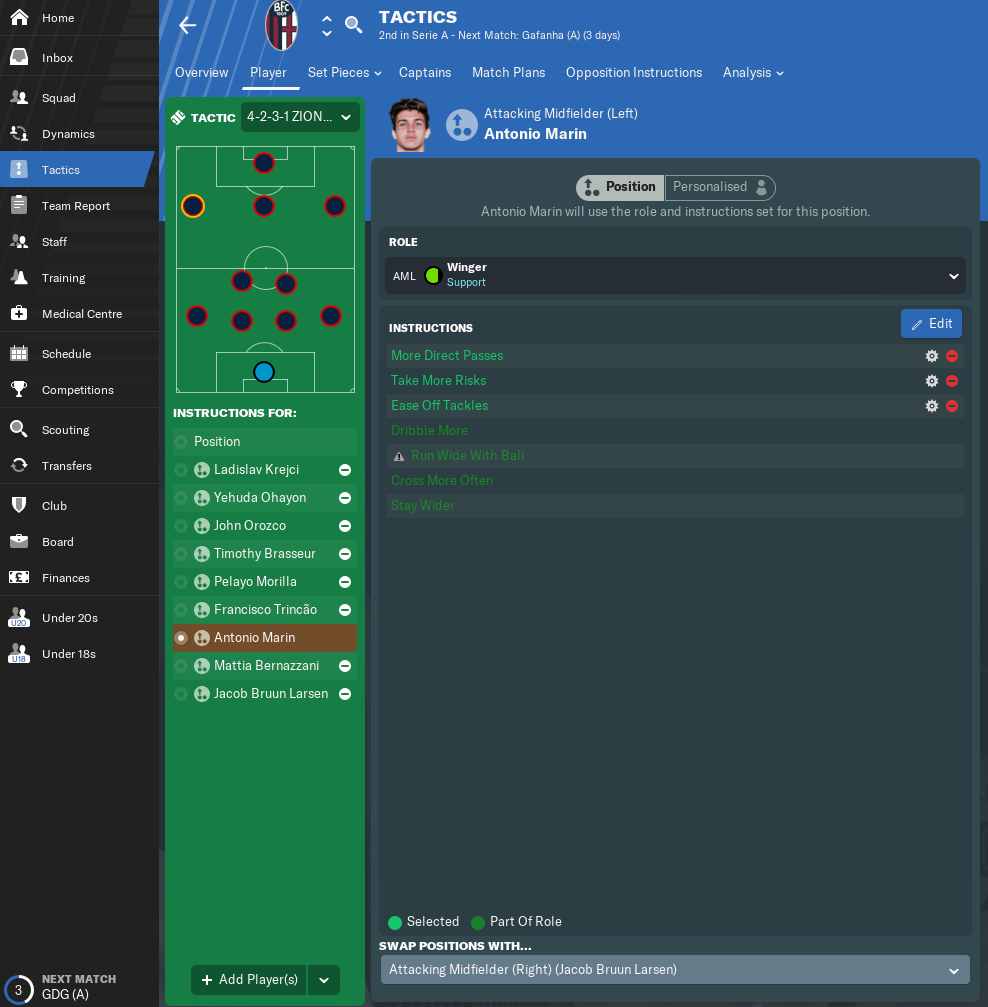 4-2-3-1 ATTACK 2 0 for FM19 by ZION | FM Scout